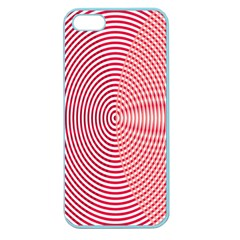 Circle Line Red Pink White Wave Apple Seamless iPhone 5 Case (Color)