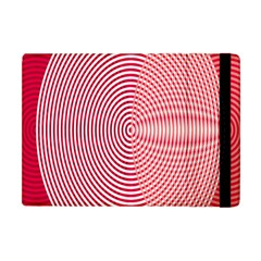 Circle Line Red Pink White Wave Apple iPad Mini Flip Case