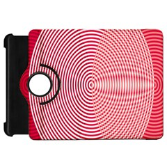 Circle Line Red Pink White Wave Kindle Fire HD 7