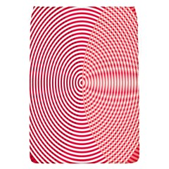 Circle Line Red Pink White Wave Flap Covers (S)
