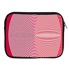 Circle Line Red Pink White Wave Apple iPad 2/3/4 Zipper Cases