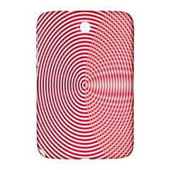 Circle Line Red Pink White Wave Samsung Galaxy Note 8.0 N5100 Hardshell Case