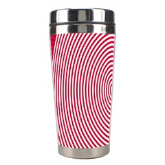 Circle Line Red Pink White Wave Stainless Steel Travel Tumblers