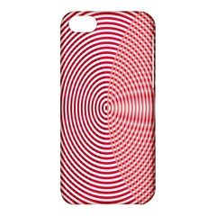 Circle Line Red Pink White Wave Apple iPhone 5C Hardshell Case