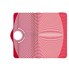 Circle Line Red Pink White Wave Kindle Fire HDX 8.9  Flip 360 Case