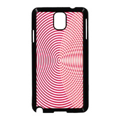 Circle Line Red Pink White Wave Samsung Galaxy Note 3 Neo Hardshell Case (black)