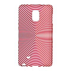 Circle Line Red Pink White Wave Galaxy Note Edge