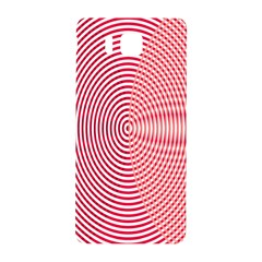 Circle Line Red Pink White Wave Samsung Galaxy Alpha Hardshell Back Case