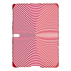 Circle Line Red Pink White Wave Samsung Galaxy Tab S (10.5 ) Hardshell Case