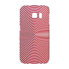 Circle Line Red Pink White Wave Galaxy S6 Edge