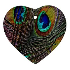 Peacock Feathers Ornament (Heart)