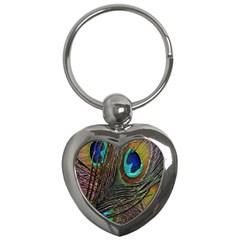 Peacock Feathers Key Chains (heart)