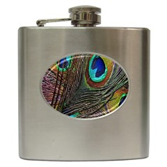 Peacock Feathers Hip Flask (6 Oz)