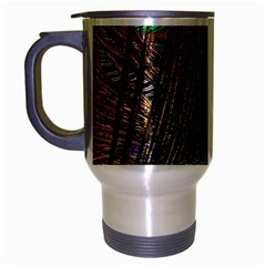 Peacock Feathers Travel Mug (silver Gray)