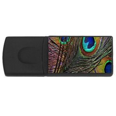 Peacock Feathers Usb Flash Drive Rectangular (4 Gb)