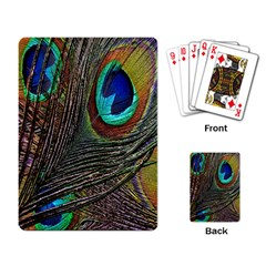 Peacock Feathers Playing Card