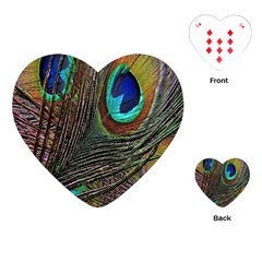 Peacock Feathers Playing Cards (Heart)