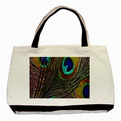 Peacock Feathers Basic Tote Bag