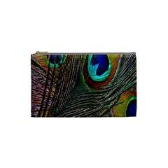 Peacock Feathers Cosmetic Bag (Small)