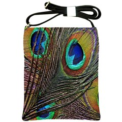 Peacock Feathers Shoulder Sling Bags