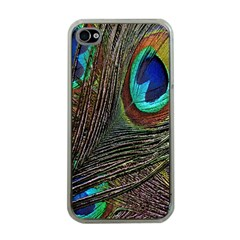 Peacock Feathers Apple iPhone 4 Case (Clear)