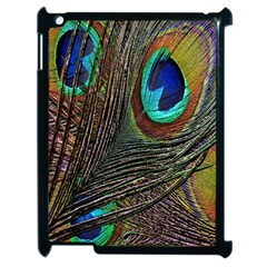 Peacock Feathers Apple iPad 2 Case (Black)