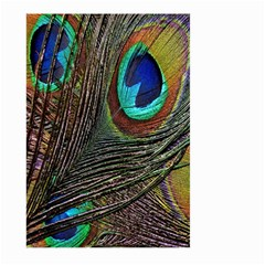 Peacock Feathers Large Garden Flag (Two Sides)