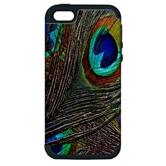 Peacock Feathers Apple iPhone 5 Hardshell Case (PC+Silicone)