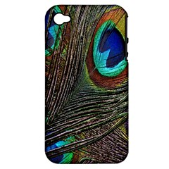 Peacock Feathers Apple iPhone 4/4S Hardshell Case (PC+Silicone)
