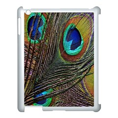 Peacock Feathers Apple iPad 3/4 Case (White)