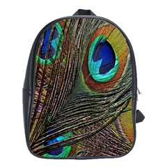 Peacock Feathers School Bags (XL)
