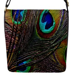Peacock Feathers Flap Messenger Bag (S)