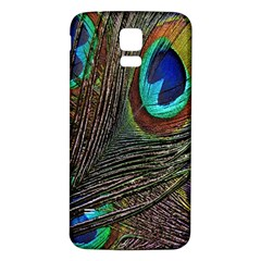 Peacock Feathers Samsung Galaxy S5 Back Case (White)