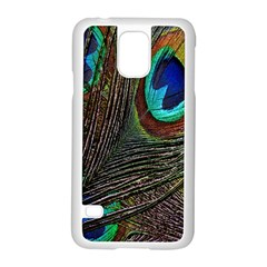 Peacock Feathers Samsung Galaxy S5 Case (White)