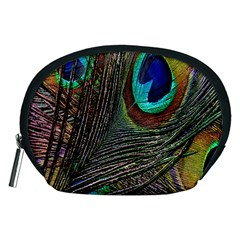 Peacock Feathers Accessory Pouches (Medium)