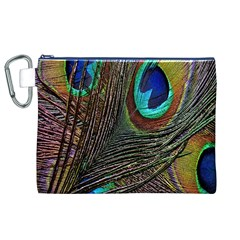 Peacock Feathers Canvas Cosmetic Bag (xl)