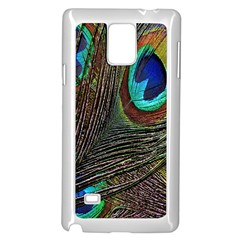 Peacock Feathers Samsung Galaxy Note 4 Case (white)