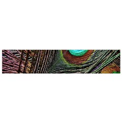 Peacock Feathers Flano Scarf (small)