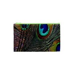 Peacock Feathers Cosmetic Bag (xs)