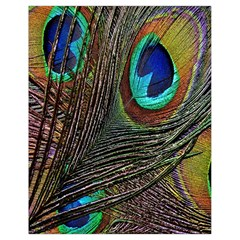 Peacock Feathers Drawstring Bag (small)