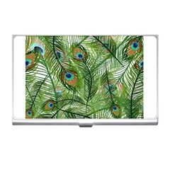Peacock Feathers Pattern Business Card Holders