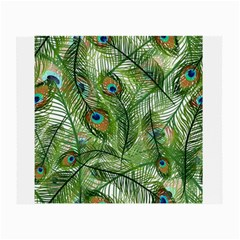 Peacock Feathers Pattern Small Glasses Cloth