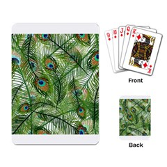 Peacock Feathers Pattern Playing Card