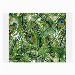 Peacock Feathers Pattern Large Glasses Cloth (2 Side)