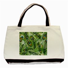 Peacock Feathers Pattern Basic Tote Bag (two Sides)