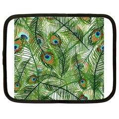 Peacock Feathers Pattern Netbook Case (Large)