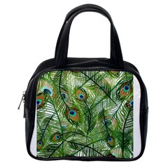 Peacock Feathers Pattern Classic Handbags (one Side)