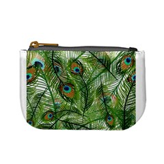 Peacock Feathers Pattern Mini Coin Purses