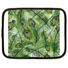 Peacock Feathers Pattern Netbook Case (xxl)