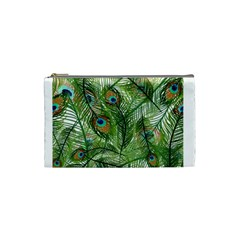 Peacock Feathers Pattern Cosmetic Bag (small)